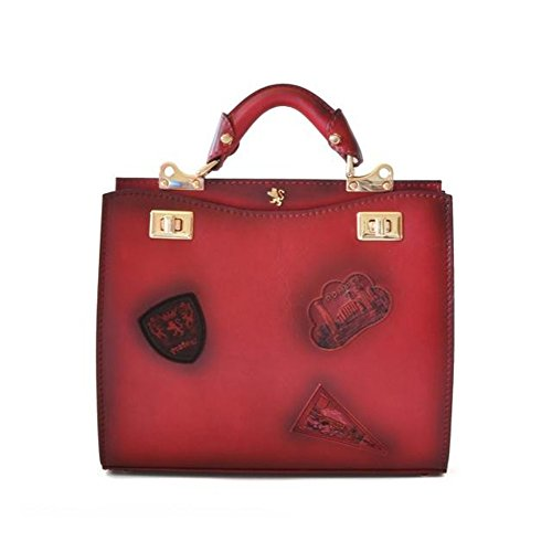 Pratesi Anna Maria Luisa de' Medici mittelgroße Tasche - B150/32 Bruce (Kirsche)