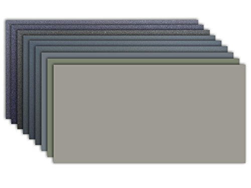 Micro-Mesh abrasiva de pulir Kit - 9 hojas de 6 x 12 pulgadas