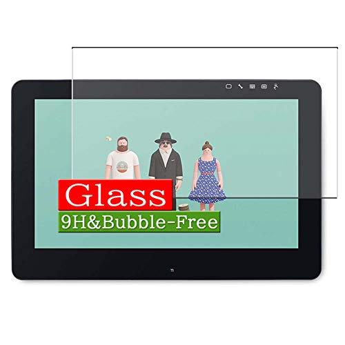"VacFun Vidrio Templado Protector de Pantalla para Wacom 15.6"" Tablet Cintiq Pro 16 DTH-1620 / K0 Visible Area, 9H Cristal Screen Protector Película Protectora(Cobertura no Completa)"