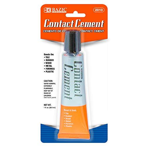 BAZIC Contact Cement Adhesive Glue 1 Oz. (30mL), Super Stong...
