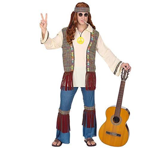 WIDMANN - Hippie da Uomo Costumi per Adulti, Multicolore, S, WDM07121