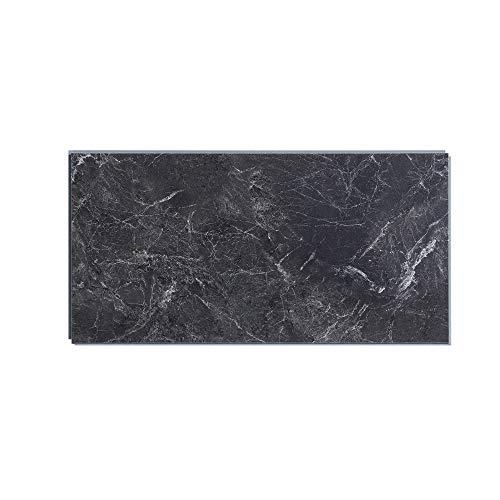 Interlocking Vinyl Wall Tile by Dumawall – Waterproof, Durable 21.9 in x 11.2 in Wall/Backsplash Panels for Kitchen, Bathroom, or Shower (10 Panels) (Dark Gray Slate)