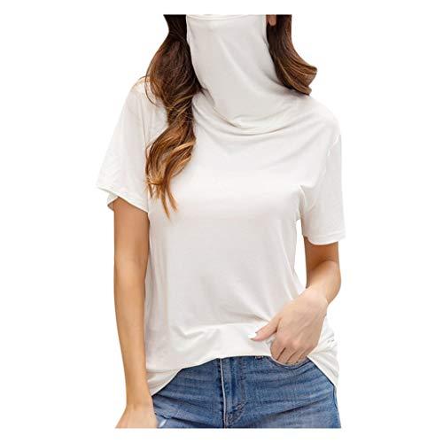Overdose Sudadera para Mujer De Manga Larga Empalme Color Moda Sudadera Pullover Tops Blusa Mejor Venta Superior (M, O-Amarillo)