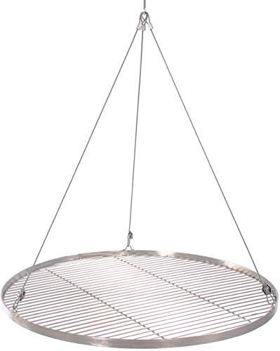 65 cm Grillrost Edelstahl für Schwenkgrill 3 Bein BBQ Grill Rost mit Seil 14 mm Stababstand