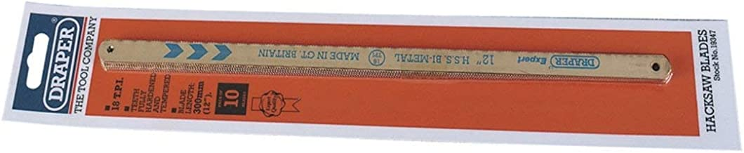 Draper 19347 - Cuchilla para segueta (bi metal, 10 x 18 dientes)