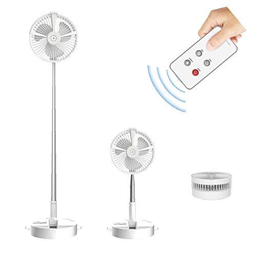 F&FSH Ventilador Retráctil, Mini Ventilador Silencioso USB Plegable De 180 ° con Lámpara De Escritorio con Control Remoto Ventilador Eléctrico Portátil Sala De Estar Oficina Dormitorio Humidificador