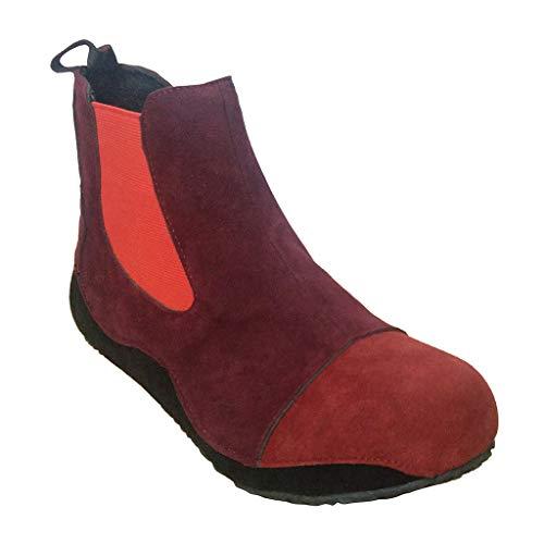Vovotrade Dameslaarsjes met korte schacht Chelsea Boots Suède Comfortabele slip on Boots Ankle Booties Winter Warm By