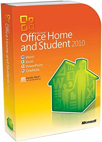 Microsoft Office 2010 Home and Student Retail Family Pack 3PCs product image