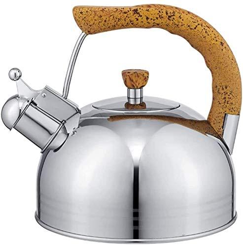 Bouilloire induction Bouilloire à induction grande capacité Kettle en acier inoxydable Bouilloire de bouilloire à gaz de cuisson à gaz Théière en céramique Home Camping WHLONG (Size : 3.8l)