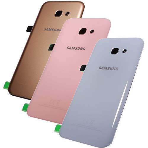 Original Samsung Galaxy A5 2017 SM A520F A520 Akkudeckel Backcover Akku Deckel Akkufachdeckel Batterieabdeckung Rückseite Cover + Klebestreifen Black Schwarz GH82-13638A