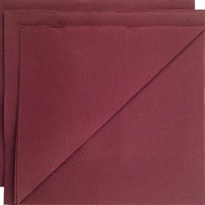 Serviette papier micropointe chocolat 38x38cm par 80