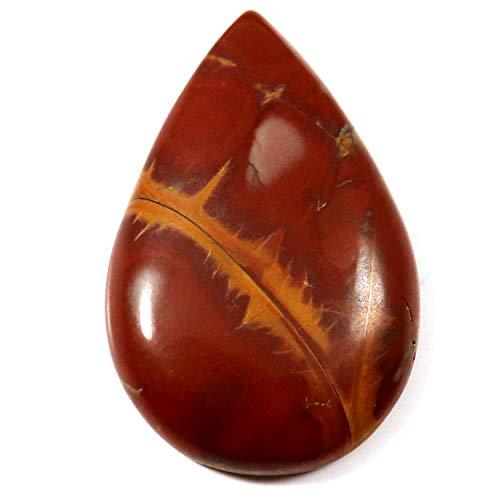 Gems&JewelsHub Noreena Jaspis natürlicher Cabochon Birne lose Edelstein 27,65 ct HX60