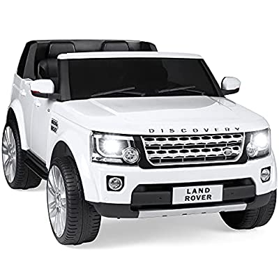 White Ride-on 2-Seater Licensed Land Rover