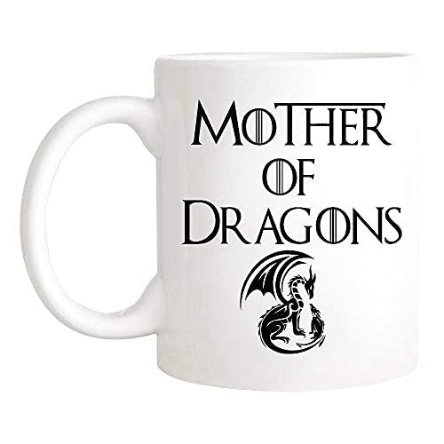 N\A Taza de Madre de Dragones, Taza de Juego de Tronos, Día de la Madre, Cumpleaños de la Madre, Taza de Café/Té de Cerámica de 11 oz