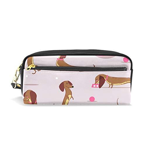 Carino cane bassotto School penna di bambini astuccio porta grande capacità sacchetto trucco cosmetici scatole ufficio borsa da viaggio