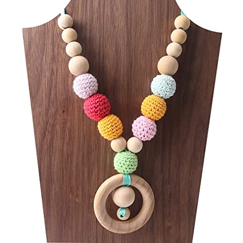 Mamimami Home Charms dell'infermiera Perle masticabili di legno Teether Teething Collana Per Mamma Giocattoli per neonati al bambino Collana da Allattamento