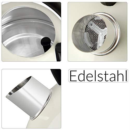 Bouilloire électrique 1,8L Sans BPA crème...