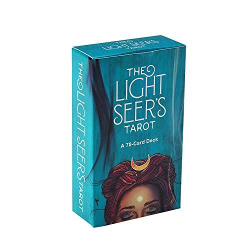 Xin Hai Yuan Cartas del Tarot, Oráculo De Light Seer para Juegos De Mesa De Baraja Familiar Guidance Adivinación Fate Playing Card (Edición En Inglés)