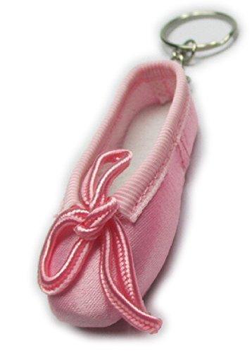 Lillebors Flamencoladen Schlüsselanhänger in Form eines Ballettschuhes mit Schlüsselring - Ballett Geschenkartikel (hell-rosa)