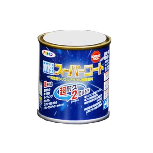 アサヒペン ペンキ 水性スーパーコート 水性多用途 ソフトグレー 1/12L