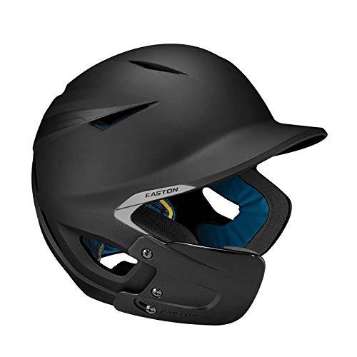 EASTON PRO X Baseball Batting Helmet with JAW GUARD | Left Handed Batter | Senior | Matte Black | 2020 | Multi-Density Impact Absorption Foam | High Impact Resistant ABS Shell | BioDRI Liner