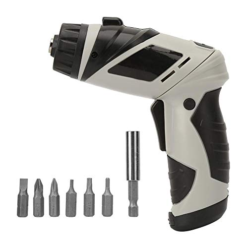 Nannday Electric Drill,Decoration Tools Rechargeable Cordless AA Battery Electric Screwdriver Drill with Various Screw Bits 6V
