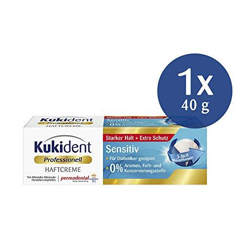 Kukident Super Haftcreme Sensitiv neutraler Geschmack Haftschutz Prothesen 40g