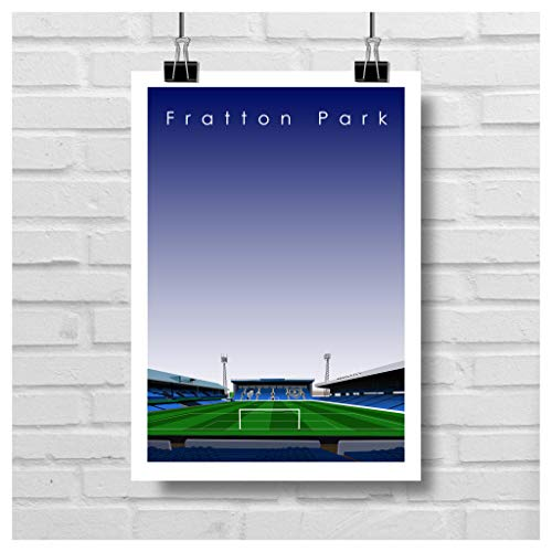 Home.Ground.Prints Wall Art Graphic Design Football Stadium Gift Print Collection - Portsmouth FC 'Fratton Park' Pompey