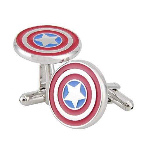 Onsinic 1 Par Gemelos Gemelos héroe Rojo Negro Gemelos (Formal Wear héroe Capitán América de Marvel Comics Gemelos