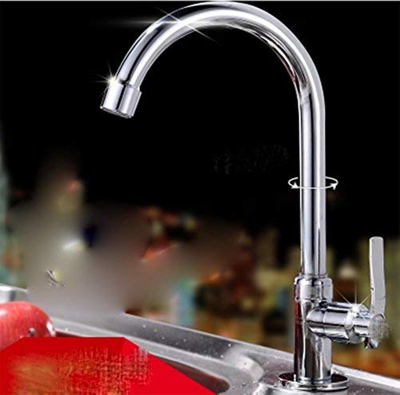 CFHJN Home Waschraum-Mischbatterie aus Kupfer Einzelgriff Einlochmontage Chrom Kalte Alleine-Küche Sit Waschbecken