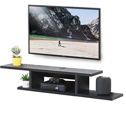 Photo of FITUEYES Wall Mounted Media Console,Floating TV Stand Component Shelf, Entertainment Center Unit,Black DS211801WB