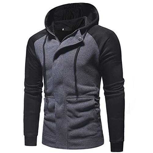 Mr.BaoLong&Miss.GO Herbst- und Winter-Herrenjacken Großformatiger Sportclip Herren-Kapuzenpullover mit Kapuze Ou Size Fashion Slim Sweater