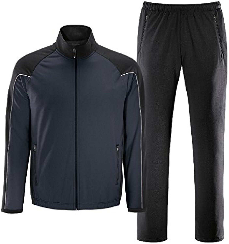 LEVYM schneider sportswear Trainings Anzug für Herren, deepgrau schwarz