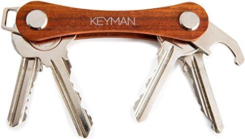 KEYMAN Schlüssel-Organizer aus Holz mit Flaschenöffner