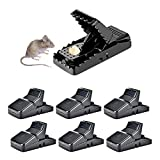 HARCCI Humane Rat Traps For Instant Snap Kill, Reusable Trap For Rodents Indoor and Outdoor, Set of 6 Best Large Rat Traps For House