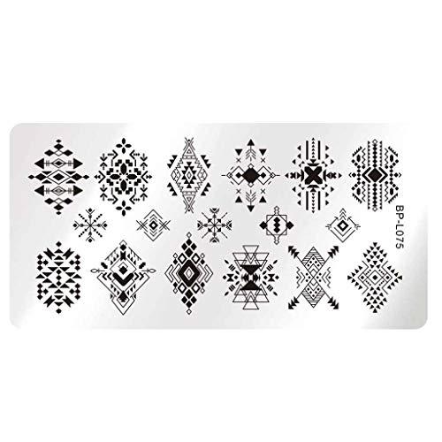 Demino/Nagelsjablonen DIY Nails Art stempelsjablonen Plates Gel Nagellak Manicure Image Plate Tool Kit