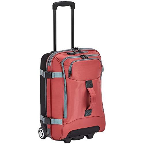 Amazon Basics - Bolsa de viaje con ruedas, pequeña, Rojo