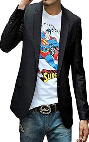 Minetom Homme Mince Fit Elégant Casual Vestes de Costume Jacket Manteau Blazer (FR 38)