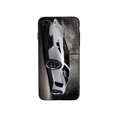 Compatible con iPhone 7 Plus / 8 Plus Carcasa de silicona antigolpes, negro TPU suave