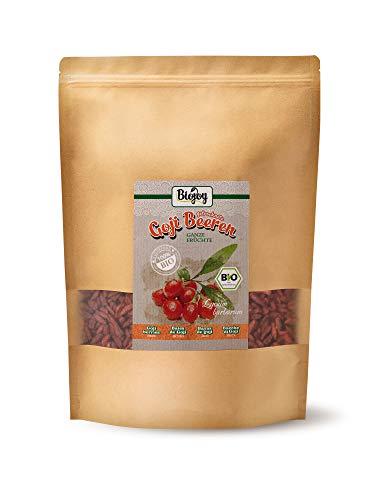 Biojoy Baies de Goji séchées BIO, sans soufre et sans sucre Lycium barbarum (1 kg)