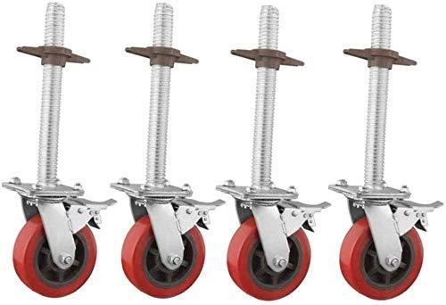 Juego de 4 ruedas giratorias,ruedas giratorias giratorias,ruedas de 6 pulgadas,ruedas de andamios de servicio pesado,ruedas de andamio giratorias industriales con freno giratorio resistente desgaste