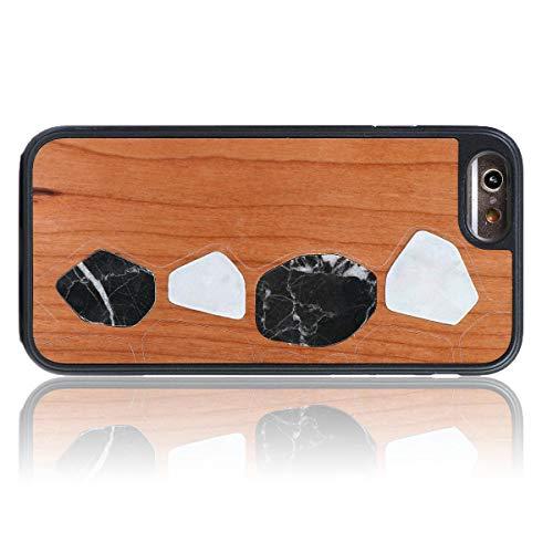 WOLA Carcasa marmol para iPhone 6 / 6s Terra Funda de Madera y marmol para iPhone 6 / 6s Madera marmol