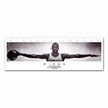 WALKKING WAYS Michael Jordan Wings Wall Art Posters Canvas Paintings for Living Room Modern Basketball Star Canvas Prints Wall Decoration  30X90 cm