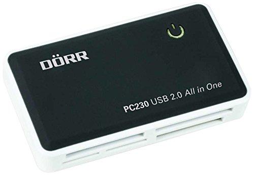 Dörr PC230 - Kartenleser (CF,SD,SDHC,SDXC,xD, Schwarz, Weiß, 480 Mbit/s, Leistung, USB 2.0, Windows 7 Home Basic,Windows 7 Home Basic x64,Windows 7 Home Premium,Windows 7 Home Premium.)