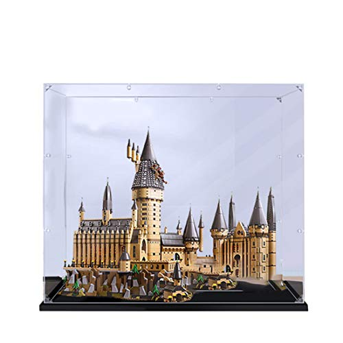 Mecotecn Display Case, Vitrina de Acrílico para Lego Harry Potter Hogwarts Castle 71043 (Modelo de Lego No Incluido) - Espesor de 2 mm
