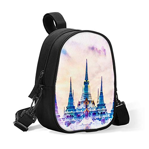 Breastmilk Baby Bottle Cooler & Travel Bag Beautiful Temple Portable Breast Milk Storage Insulated Baby Bottle Carrier Tote Bag for Bottles Work Mommy Stroller Outdoor Use