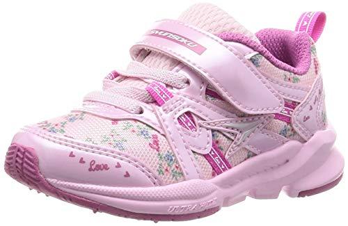 [シュンソク] スニーカー 運動靴 幅広 軽量 15~23cm 3E キッズ 女の子 LEC 6120 ピンク 18 cm