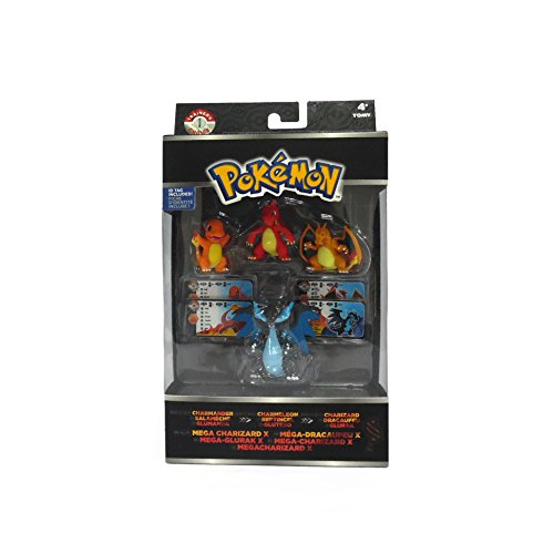 Pokémon Trainer's Choice 4 Figure Gift Pack, Charmander, Charmeleon, Charizard and Mega Charizard X