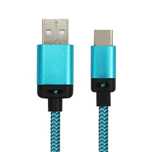 Ouneed® USB Adapter , 2M USB-C USB 3.1 Typ C Stecker Stecker Typ A Stecker Datenkabel für Samsung Galaxy S8 / S8 Plus (Blau)