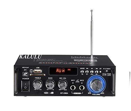 Amplificatore Bluetooth, Mini Amplificatore Stereo Audio Hifi Bluetooth, Amplificatore Cuffie, Hi-Fi Digital Amp 2.0 Channel 600W con Ingresso USB/RCA/Scheda SD/per Casa, Auto Audio,Audio Speaker